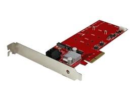StarTech.com 2x M.2 NGFF PCIe SSD RAID Controller Card plus 2x SATA III Ports, PEXM2SAT3422, 31748003, RAID Controllers