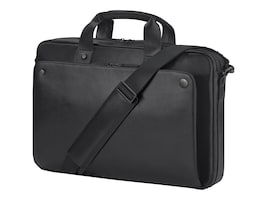 HP 15.6 Executive Top Load Case, Black Leather, 1LG83AA, 34336469, Carrying Cases - Notebook