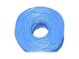 Premiertek CAA CAT6 23AWG UTP Solid Cable, Blue, 1000ft, CAT6-CCA-1KFT-BL, 34193875, Cables