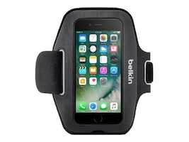 Belkin Sport-Fit Armband for iPhone 7, Blacktop, F8W781BTC00, 33418825, Carrying Cases - Phones/PDAs