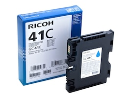 Ricoh Cyan GC41C Print Cartridge, 405762, 13930039, Ink Cartridges & Ink Refill Kits