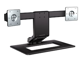 HP Adjustable Dual Monitor Stand, AW664UT#ABA, 16431593, Stands & Mounts - Desktop Monitors