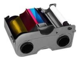 Fargo Electronics Color YMCKO Ribbon w  Cleaning Roller for DTC1000 & DTC1250e, 045000, 12953280, Printer Ribbons