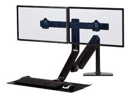Fellowes Extend Sit-Stand Dual Display Mount, 0009801, 33633189, Furniture - Miscellaneous