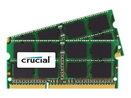 Crucial 16GB PC3-14900 204-pin DDR3 SDRAM SODIMM Kit, CT2K8G3S186DM, 30862349, Memory