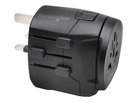 Kensington International Travel Adapter, 3-Prong w  Dual USB Ports, K38238WW, 34188937, AC Power Adapters (external)