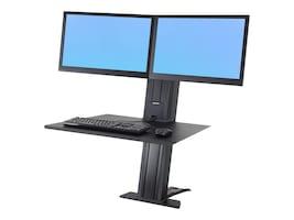 Ergotron WorkFit-SR, Dual Monitor, Sit-Stand Desktop Workstation, Black, 33-407-085, 31989579, Stands & Mounts - AV