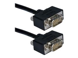 QVS UltraThin VGA Cable, HD-15 (M-M), Triple Shielded, 15ft, CC388M1-15, 10909162, Cables
