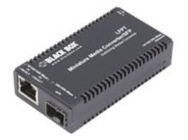 Black Box 10 100 1000TX 1000 SFP Media Converter, LGC135A, 13328806, Network Transceivers