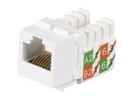 Black Box GigaTrue2 CAT6 UTP Jack, White, FMT639-R3, 19964299, Cable Accessories