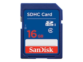 SanDisk 16GB SDHC Flash Card, SDSDB-016G-B35, 12555599, Memory - Flash