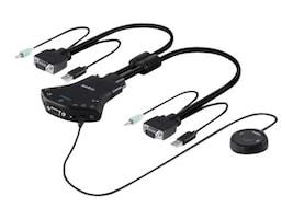 Belkin Secure 2-Port VGA Single-Link KVM w  Audio and Remote Controller, F1DN102V-3, 25876308, KVM Switches