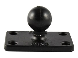 Ram Mounts B Size 1 Ball and Rectangular Plate with 1 x 2 4-Hole Pattern, RAM-B-202U-1525, 36082706, Mounting Hardware - Miscellaneous