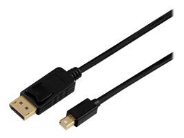 Axiom Mini DisplayPort to DisplayPort M M Adapter Cable, Black, 6ft, MDPMDPM06K-AX, 36823703, Cables