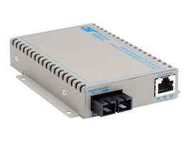 Omnitron OmniConverter GPoE SE 1X10 100 1000T  1000X SC MM 850 550M AC Power, 9462-0-11, 15315945, Network Transceivers