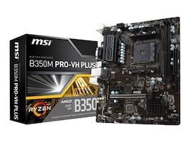 Microstar Motherboard, B350M Pro-VH Plus, B350MPRO-VHPLUS, 34359581, Motherboards
