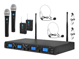 Pyle 4-Channel UHF Mic System, PDWM4350U, 17259887, Microphones & Accessories