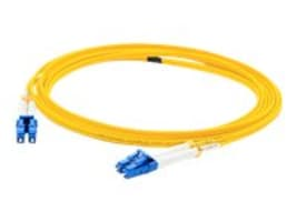 ACP-EP LC-LC 9 125 OS1 Singlemode Duplex Fiber Cable, Yellow, 0.5m, ADD-LC-LC-0.5M9SMF, 32068595, Cables