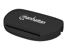 Manhattan USB 2.0 Type A Smart SIM Card Reader, 102032, 34840471, PC Card/Flash Memory Readers