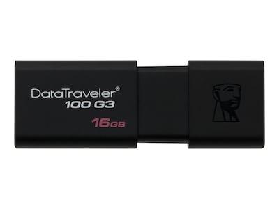 Kingston 16GB DataTraveler 100 G3 USB 3.0 Flash Drive, DT100G3/16GB, 15562241, Flash Drives