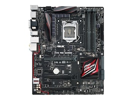 Asus Motherboard, Z170 Pro Gaming ATX Z170 Core i7 i5 i3 Family Max.64GB DDR4 4xSATA 6xPCIe GbE, Z170 PRO GAMING, 32500288, Motherboards