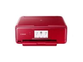 Canon PIXMA TS8120 Wireless Inkjet All-In-One Printer - Red, 2230C042, 34539338, MultiFunction - Ink-Jet