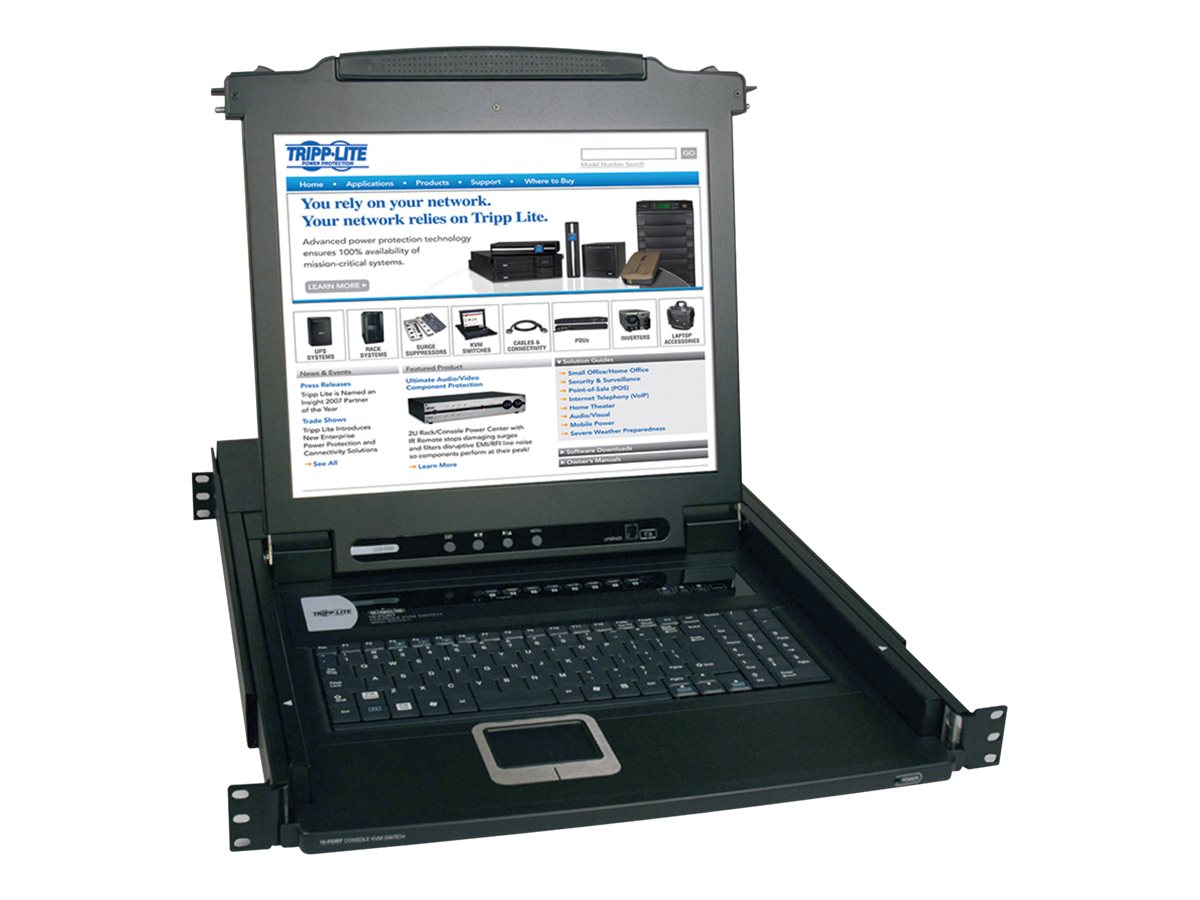 Tripp Lite 17 LCD 8-port NetDirector Console KVM Switch 1U, B020-008-17, 6194942, KVM Displays & Accessories