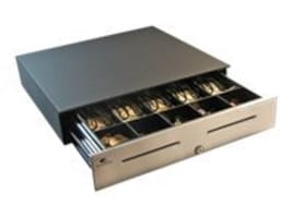 Open Box APG S4000 I F 18x16 5-Bill 5-Coin A2 Till All Drawers Keyed w  A2 Code, Black, JD320-BL1816-C-K2, 31755481, Cash Drawers