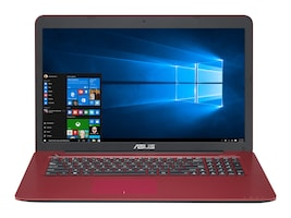 Asus Notebook PC Core Core i3-6100 12GB 1TB 17.3 W10 Red, 90NB0A04-M01790, 33879672, Notebooks
