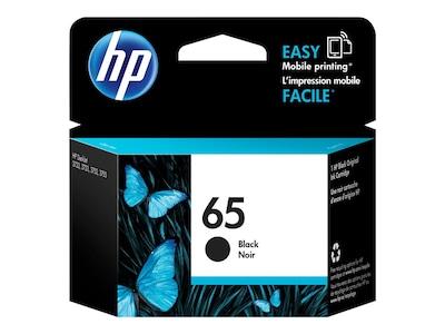 HP 65 (N9K02AN#140) Black Original Ink Cartridge, N9K02AN#140, 31606048, Ink Cartridges & Ink Refill Kits - OEM