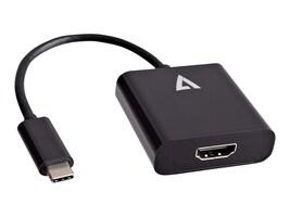 V7 USB Type C (USB-C) to HDMI Adapter, Black, V7UCHDMI-BLK-1N, 32563861, Adapters & Port Converters