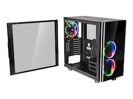 Thermaltake Chassis, View 31 Tempered Glass RGB Edition MT Chassis, CA-1H8-00M1WN-01, 34018292, Cases - Systems/Servers