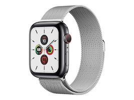 Apple Watch Series 5 GPS+Cellular, 44mm Stainless Steel Case with Stainless Steel Milanese Loop, MWW32LL/A, 37523711, Wearable Technology - Apple Watch Series 4-5