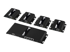 Siig 1x8 HDMI Splitter HDbitT over IP Extender, 120m, CE-H25G11-S1, 37629232, Switch Boxes
