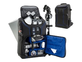 Accessory Genie Backpack for DLSR Camera w Padded Dividers, Blue, GRSLS17100BLEW, 36550872, Carrying Cases - Camera/Camcorder