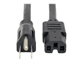 Tripp Lite Heavy Duty Power Cord 5-15P to C15 14AWG 8ft Black, P019-008, 14670857, Power Cords