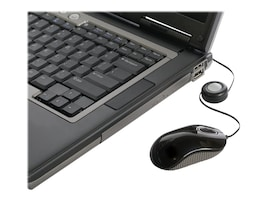 Targus USB Retractable Cable Compact Optical Mouse, Black Gray, AMU75US, 10159672, Mice & Cursor Control Devices