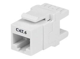 StarTech.com Keystone Jack RJ-45 Ethernet Cat6 180-degree Wall Jack 110 Type White, C6KEY110SWH, 14501412, Premise Wiring Equipment