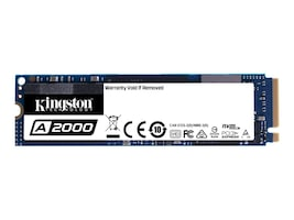 Kingston 250GB A2000 NVMe PCIe Gen 3.0 x 4 Lanes M.2 2280 Internal Solid State Drive, SA2000M8/250G, 37403815, Solid State Drives - Internal