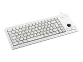 Cherry 15 Ultraslim PS 2 Keyboard with Optical Trackball, Light Gray, G84-4420LPBEU-0, 8736792, Keyboard/Mouse Combinations