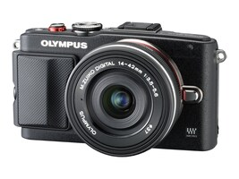 Olympus E-PL6 Mirrorless Digital Camera with 14-42mm f 3.5 II Lens, Black, V205051BU000, 19857979, Cameras - Digital