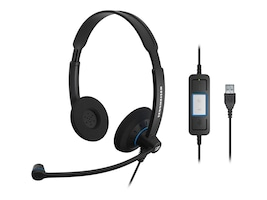 Sennheiser Culture Dual Ear Stereo Headset, SC60 USB CTRL, 15258469, Headsets (w/ microphone)
