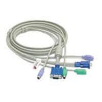 StarTech.com 3-in-1 KVM Extension Cable PC99 - 15 Feet, 3N1PS2EXT15, 194991, Cables