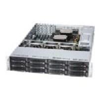 Scratch & Dent Supermicro Barebones, SuperServer 6028R 2U RM (2x)E5-2600v3 Family Max.1.5TB DDR4 12x3.5 HS Bays 5xPCIe 4x10Gb, SSG-6028R-E1CR12N, 33830529, Barebones Systems
