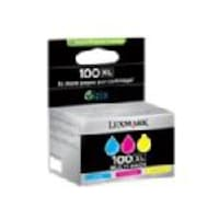 Lexmark Color (CMY) 100XL High Yield Return Program Ink Cartridges (3-pack), 14N0684, 10248843, Ink Cartridges & Ink Refill Kits